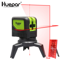 Huepar Cross Line Laser Level With 2 Dots 180/110 degree Vertical Horizontal Self-leveling Red Laser Beams & 2pcs Magnetic Base ootdty 3 line 3 dots 360degree self leveling cross laser level red level laser level tools