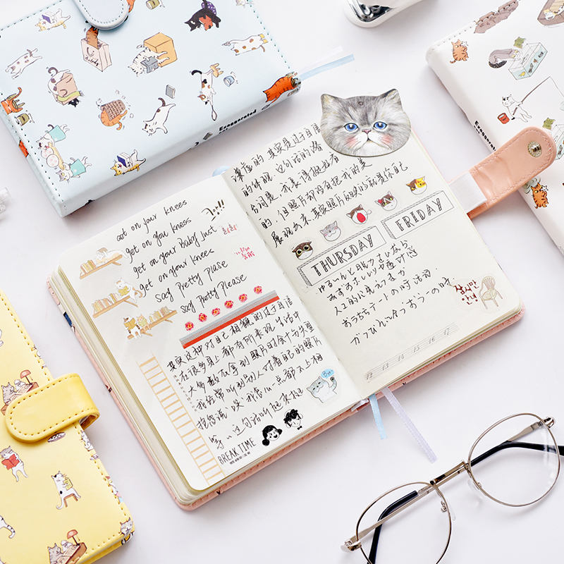TUTU 128 sheet Cute leather-bound notebook stationery hand book student small fresh record book Japanese hand book G0018 flyers skills student s book