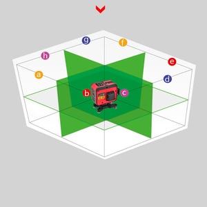 Image 4 - לייזר רמת 12 קווים 3D עצמי פילוס 360 אופקי ואנכי סופר עוצמה לייזר רמת ירוק קרן SHIJING לייזר פלס