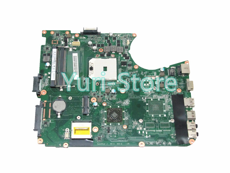 NOKOTION DAMAGEABLE Laptop motherboard For Toshiba Satellite L755D L750D A000081230 Main Board DDR3 Socket fs1 nokotion for toshiba satellite l840 l845 laptop motherboard main board ddr3 daby3cmb8e0 a000174140 hd7670m 1gb