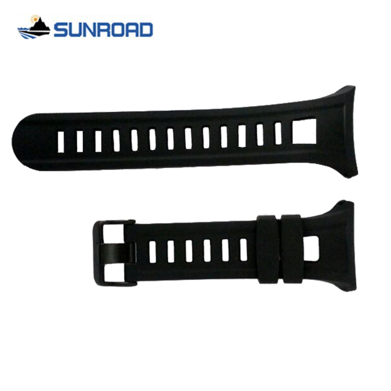 Original 22mm Black Silicone Rubber Watch Strap Waterproof Sports Watch Band For Wristwatch Sunroad FR801 FR802BN FR803 FR830 t rrce expert black silicone rubber strap t048 watch band for t048417a 21mm