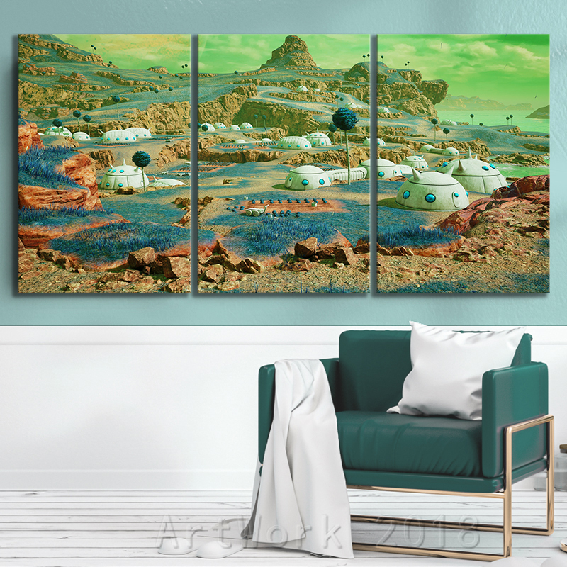 Dragon Ball Namek World Game Scene Landscape Frameless Painting JUMP FORCE Video Games Art Canvas Paintings Wall Art Home Decor 4