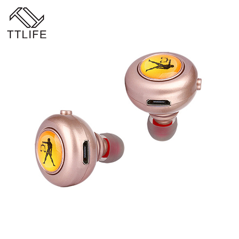 TTLIFE Original TWS Mini Bluetooth Earphone 4.1 Wireless Earphone for Phones Xiaomi Double Earbuds In-Ear Stereo