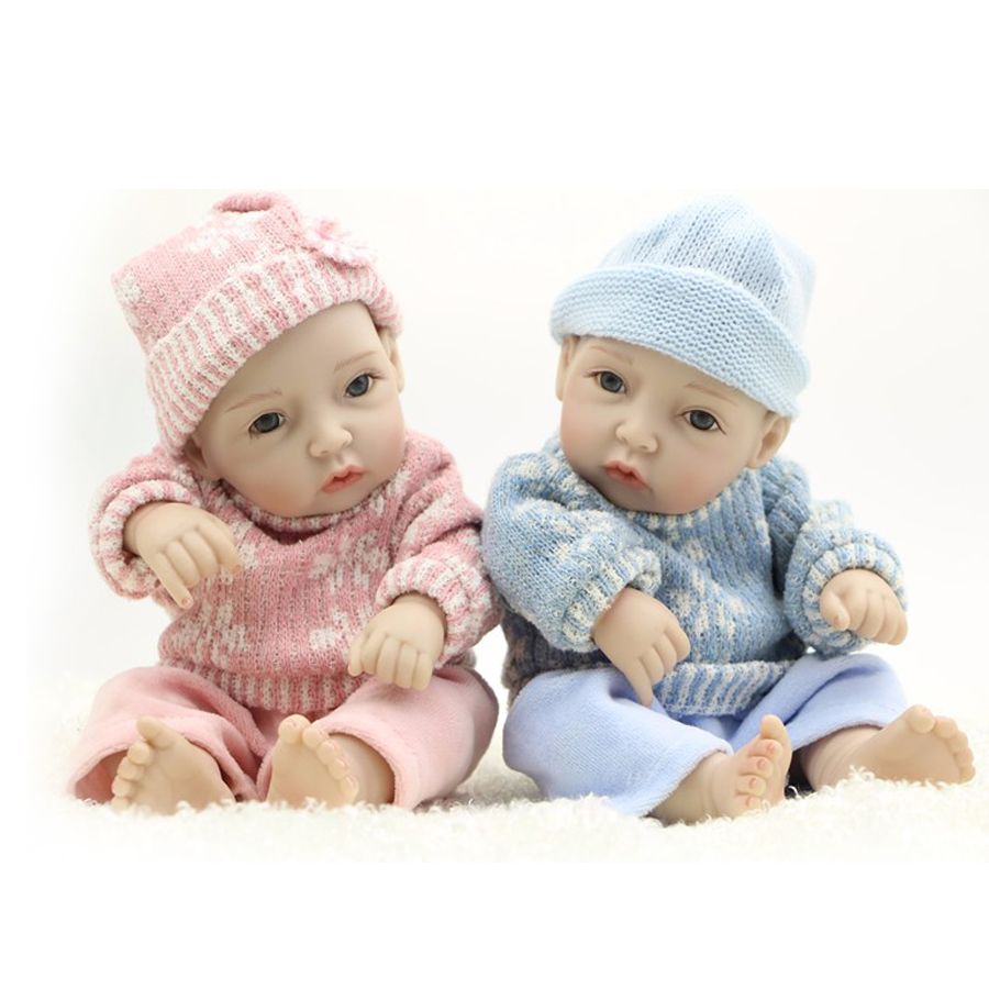 Fashion Mini 11 Alive Dolls Reborn Boneca Full Silicone Vinyl Cute Reborn Baby Boy And Girl Twins For Kids Birthday Xmas GiftFashion Mini 11 Alive Dolls Reborn Boneca Full Silicone Vinyl Cute Reborn Baby Boy And Girl Twins For Kids Birthday Xmas Gift
