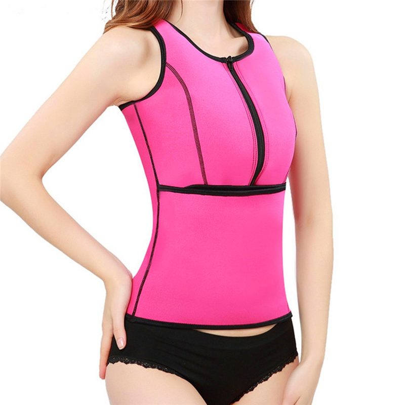 54708a4e0c4b 2017 Neoprene Sauna Suit Tank Top Waist Trainer Vest Hot Shaper Summer Workout  Vest Adjustable Waist Trainer Belt Slim Waist