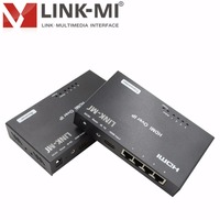 LINK MI LM EX23 120m Single Cat5e/6 HDMI splitter Extender Over Ethernet With IR Balun Over Lan/IP/TCP 1x4 RJ45 Up to 1080p@60Hz