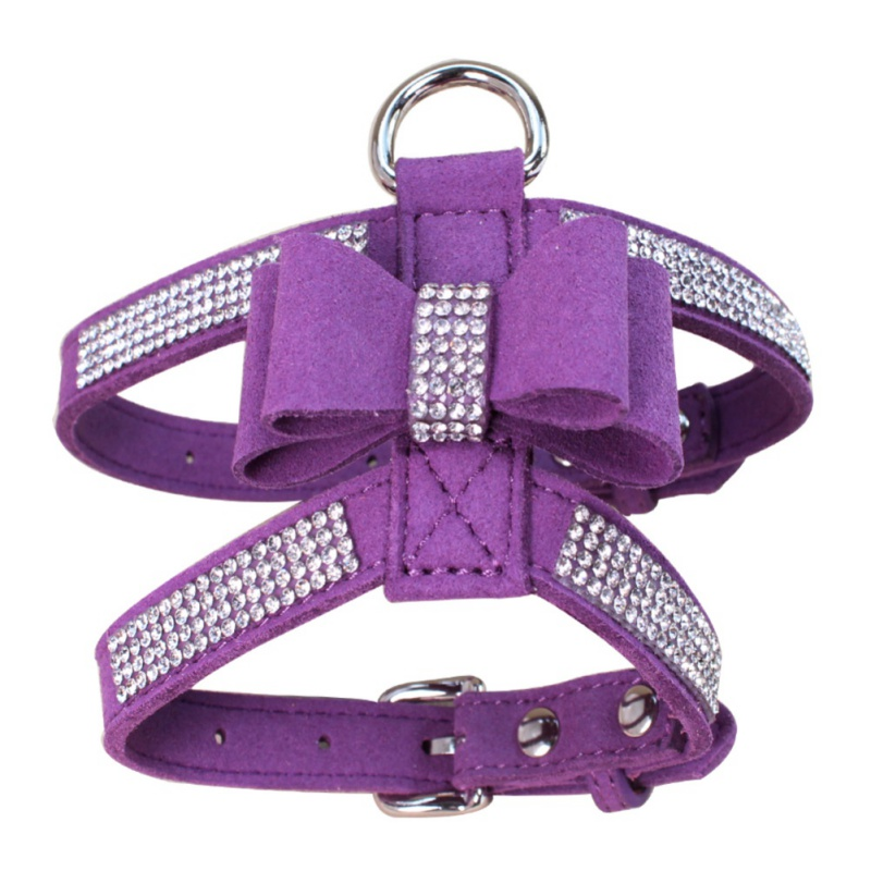 Diamante Rhinestone PU Leather Cat Dog Collars Pink for Small Medium Dogs Chihuahua Yorkie 4 Colors Size S M L