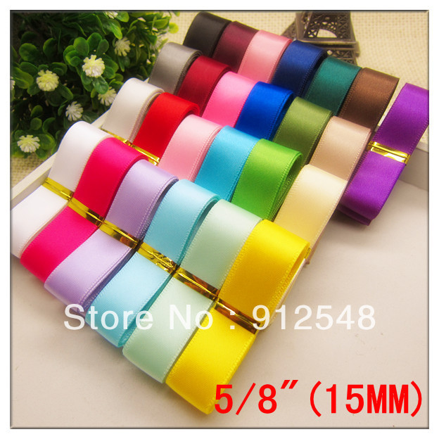 """5/8""""(15mm) SATIN RIBBON WEDDING PARTY TABLE ANNIVERSARY CAKE FLOWER DECORATING, Fashion Accessories,25 color mix,cs1527"""