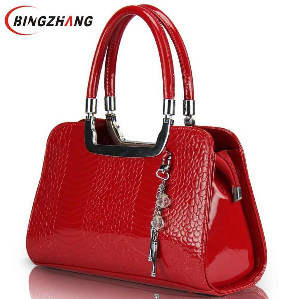 2e4e8a4518a2 Новые кожаные сумки на плечо модные женские сумки-мессенджеры горячая Распродажа  брендовые крокодиловые женские сумки