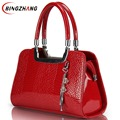 New Leather Shoulder Bags Fashion Women Messenger Bags Tote Hot Sale Brand Crocodile Women Handbag L4-367
