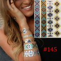 New Metal gold tattoo stickers glitter tatoo Inspired Gold Silver Metallic Stickers tattooTemporary Tattoo Flash Tattoos Jewelry