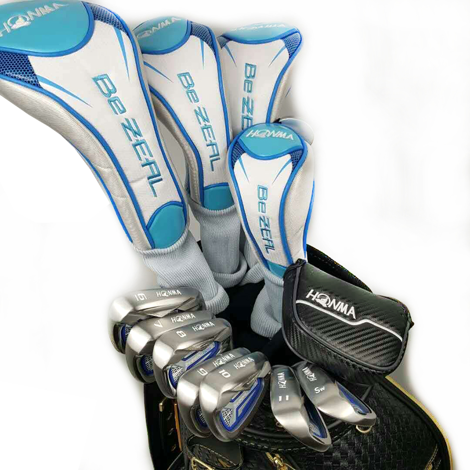 Woman Golf clubs HONMA BEZEAL525 Compelete club sets Driver+3/5 fairway wood+irons+putter and Graphite Golf shaft No ball packs golf clubs honma bezeal525 compelete club sets driver 3 5 fairway wood irons putter and graphite golf shaft no ball packs