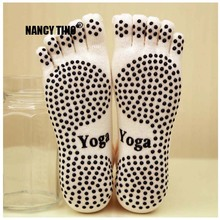 NANCY TINO 1 Pair Mens Cotton Quick-Dry Non-slip Damping Yoga Socks With Floor Pilates  Male Anti Skid Breathable