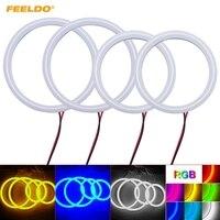 FEELDO 4Pcs Set Car Xenon Cotton Angel Eyes Halo Ring Light For VW Magotan LED Headlight