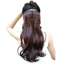 "S-noilite 24"" 8pcs/set Curly Synthetic Clip in Hair Extensions for Women Body Wave False Hair Styling High Temperature Fiber(China)"
