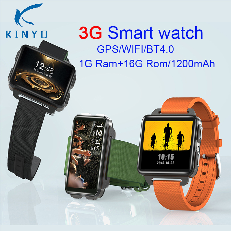 3G Smart watch PK X5 AIR 2.2inch IPS 320*240 Screen Smart Watch 3G Calling 1.3MP Camera Pedometer Heart Rate For IOS&Android