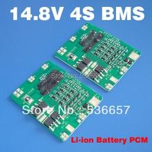 משלוח חינם 14.8V 4S 10A BMS 4S PCM 14.8V ליתיום הגנת לוח משמש 4S 3.7V תא ליטיום