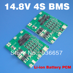 Image 1 - Free Shipping 14.8V 4S 10A BMS 4S PCM 14.8V li ion battery protection board Used For 4S 3.7V li ion cell