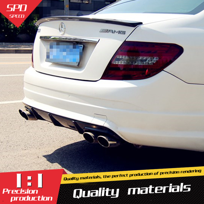For Benz W204 Spoiler Carbon Fiber Car Rear Wing Spoiler For Benz W204 C180 C200 C260 C280 C300 C74 Spoiler 2008 2014-in Spoilers & Wings from Automobiles & Motorcycles