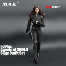 Sexy 1/6 Scale Female Cool Agents of SHIELD Skye Outfit Set agent clothing setFor 12 PH action figure doll