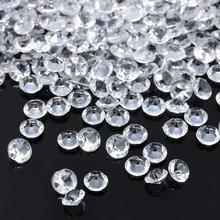 1000 шт 4,5 мм свадебные украшения, алмазные конфетти, Разбрасыватели конфетти для стола, прозрачные акриловые кристаллы, центральная часть, вечерние принадлежности для мероприятий