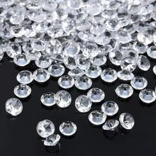 1000PCS 4.5mm Wedding Decoration Crafts Diamond Confetti Table Scatters Clear Acrylic Crystals Centerpiece Events Party Supplies