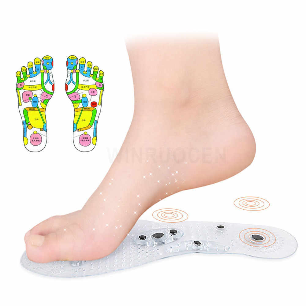 Magnetic Therapy Slimming Silicone Insoles for Weight Loss Foot Massage Health Care Shoes Mat Pad Acupuncture Massaging Insole