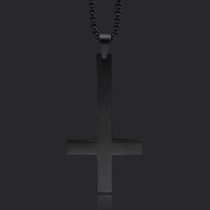 UMtrade Hombres Acero Inoxidable Godo Bruja Sello de Lucifer Iglesia de Sat/án Colgante Collar