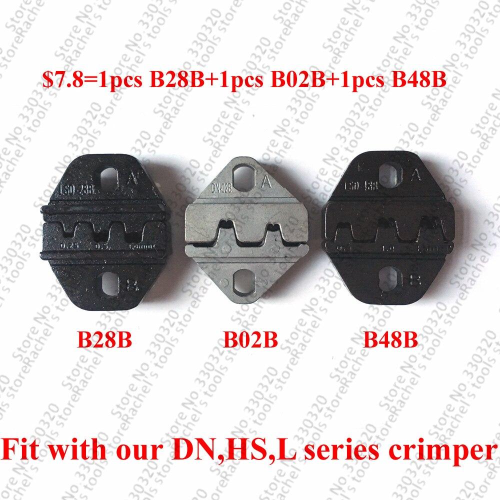 Crimping Dies Set For Open Barrel Pin Terminals Dupont Connector ($7.8=1pcs B28B+1pcs B02B+1pcs B48B)