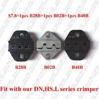 Friso morre definido para terminais de barril aberto pin conector dupont ($7.8 = 1 pcs B28B + 1 pcs B02B + 1 pcs B48B)