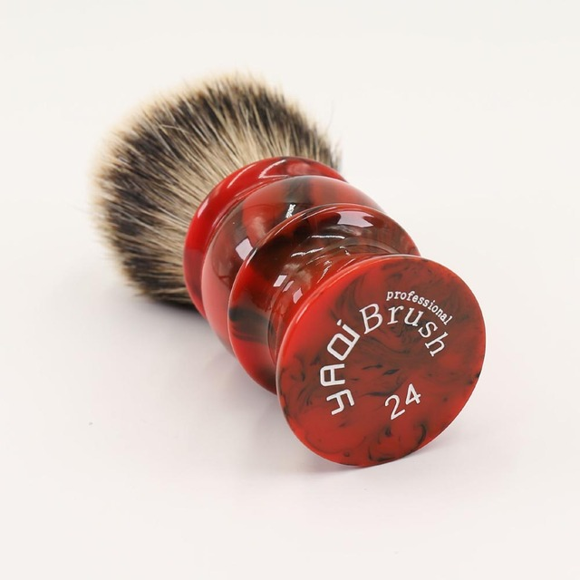 24MM 100% Silvertip Badger Hair Red Resin Handle Shaving Brushes for men