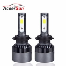 Aceersun H4 H7 H11 светодиодный фар автомобиля лампы 9005 9006 Hb3 H1 10000lm смарт-ic мини 6500 К 12 24 В авто лампы Hi-Lo Луч Грузовик ампулы