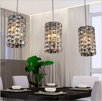 brief fashion luxurious clear K9 crystal Dia30cm H80cm led E14*3 heads pendant light for living room dining room lamp1617