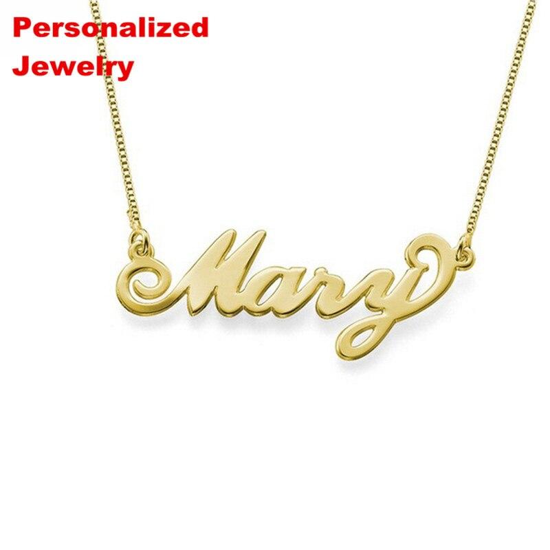 87a20f61e224 Senfai personalizado nombre collar grabado diseño personalizado monograma  inicial acero inoxidable ...