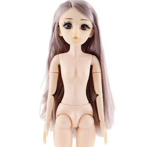 Nova 42cm 26 Móvel Articulado BJD Bonecas Brinquedos 3D Olhos Cílios Nake Nu Feminino Corpo 1/4 DIY Brinquedo de Menina boneca para Meninas Presente