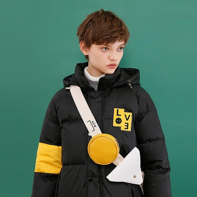 Toyouth 80% белые пуховики на утином пуху зимние теплые утепленные парки контрастные Цветные парки Женская верхняя одежда с капюшоном пальто