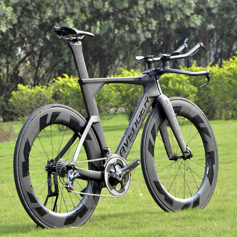 Painting-Frame Bike Carbon-Fiber Tm6-Avenger Trial Complete Bicycle-Time Black 700C TT