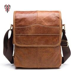 9eaa4e47de TIANHOO Genuine Leather Men Bags flap Messenger Bag Men s Small Briefcase Man  Casual Crossbody Bags Shoulder Handbags