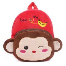 Baby Girls Boys Cute Cartoon Animal Backpack Plush School Bag for Kids Age 1-4 Years недорого