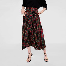 2018  new fashion ladys skirt High waist A style middle spring autumn long