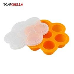 Portabilidade recipiente de alimentos para bebê infantil flor treliça frutas leite materno caixa armazenamento segurança silicone freezer bandeja crisper t0359