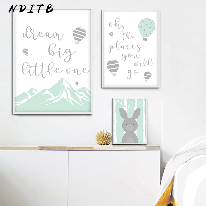 Baby Nursery Wall Art Canvas Painting Woodland Animal Posters And Prints Nordic Kids Decoration Pictures Children Bedroom Decor