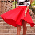 New Hot Selling elegant Chic Fashion Vintage Women Stretch High Waist Skater Flared Pleated Swing Long Skirt Free shipping