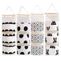 Bedroom Sundries Organizador Wall Hanging Bathroom Makeup Organizer Multifunctional Magazines Storage Bags Large Space Container