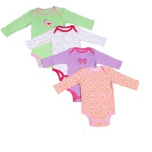 Baby Bodusuits 5 pcs Long Sleeve Bodysuit For Baby Boys And Baby Girls 100% Cotton Suitable For Kids