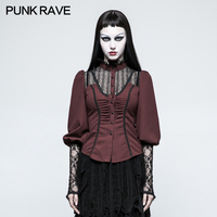 2017 New Punk Rave Banaged Gothic Goth Steampunk Long Sleeve Shirt Top Sexy women party clothes Y794