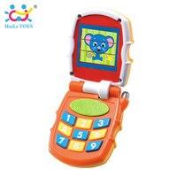 צעצועי HUILE 766 תינוק צעצוע Flip טלפון צעצוע בייבי למידה מחקר למידה טלפון צליל מוסיקלי צעצוע חינוכי לילדים חג המולד מתנות