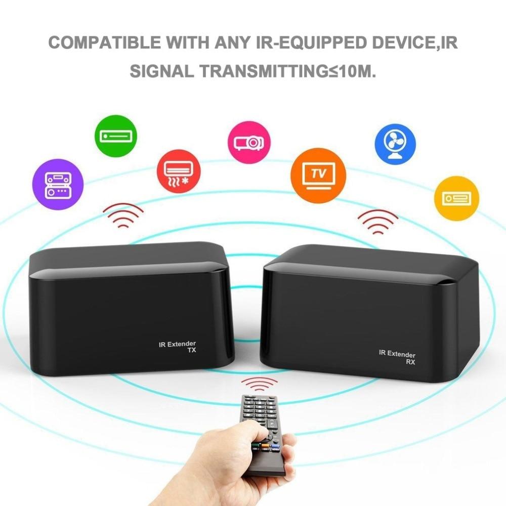 Drahtlose Ir-fernbedienung Extender Repeater Dual Frequenz Sender Empfänger System Kit Blaster Emitter für IR-ausgestattet Gerät