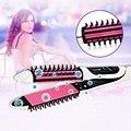 2-in-1Hair Pente alisador/Ondulação modelador de cabelo Rápida E Segura de Controle de Temperatura do ferro de Cabelo Profissional Curling Alisamento Escova