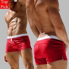 TOPPICK Men's swimming Trunks Pocket Swimwear Men Sexy Men's swimsuit Sports Swimming Shorts Mens Sw
